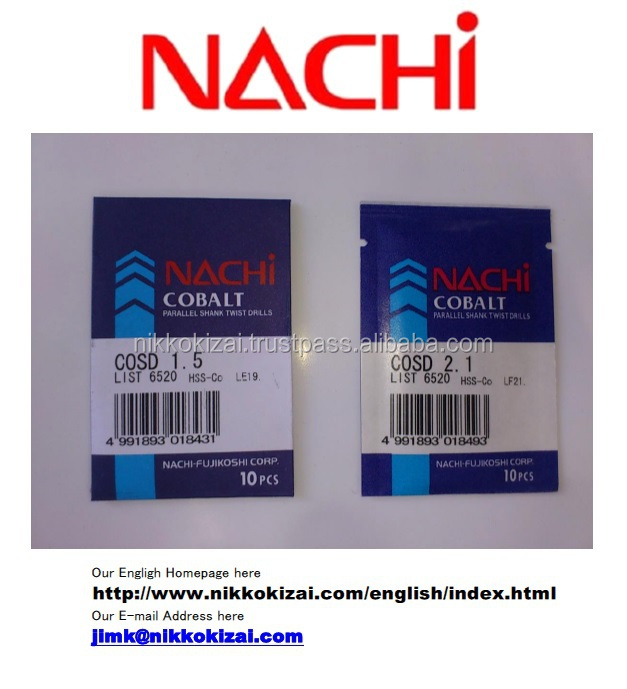 Durable made in japan cutting tools for Nachi for hss drills for mold for japanese mobile phone brands at good price on alibaba