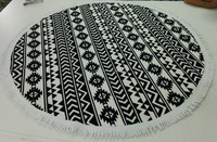 Made in Turkey 150 cm Round Beach towel with tassels from Factory, Australian the beach people roundie