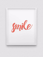 TBW10, LIVEGREEN Smile Printed Wall Decoration