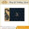 Wedding Invitation Card With Acrylic,Vellum Paper. Imported Metallic Board