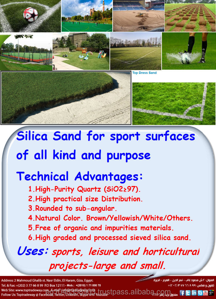 Silica Sports Sand (Excellent Drainage on Natural Turf)
