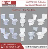 Exclusive Range of Precisely Design Two Piece Toilet Selling by Trustworthy Supplier