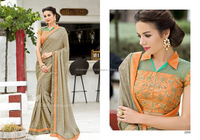 Designer Chiffon Satin Saree/Indian and Pakistan Clothing
