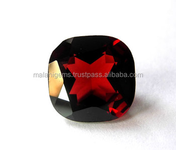 Natural Garnet square facted Loose Stone