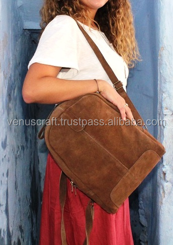 Hand made real leather vintage style shoulder bag and Rucksack and Back pack