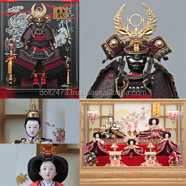 Classic and Tasteful decorative samurai armour Hina Ningyo/Gogatsu Ningyo Doll for celebrations , Japanese goods also available