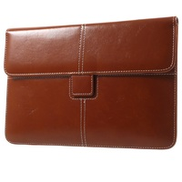 Business Style PU Leather Pouch for iPad mini 4/3,Eleglant Trendy Pouch Case for Galaxy Tab, Size: 226 x 149mm - Brown