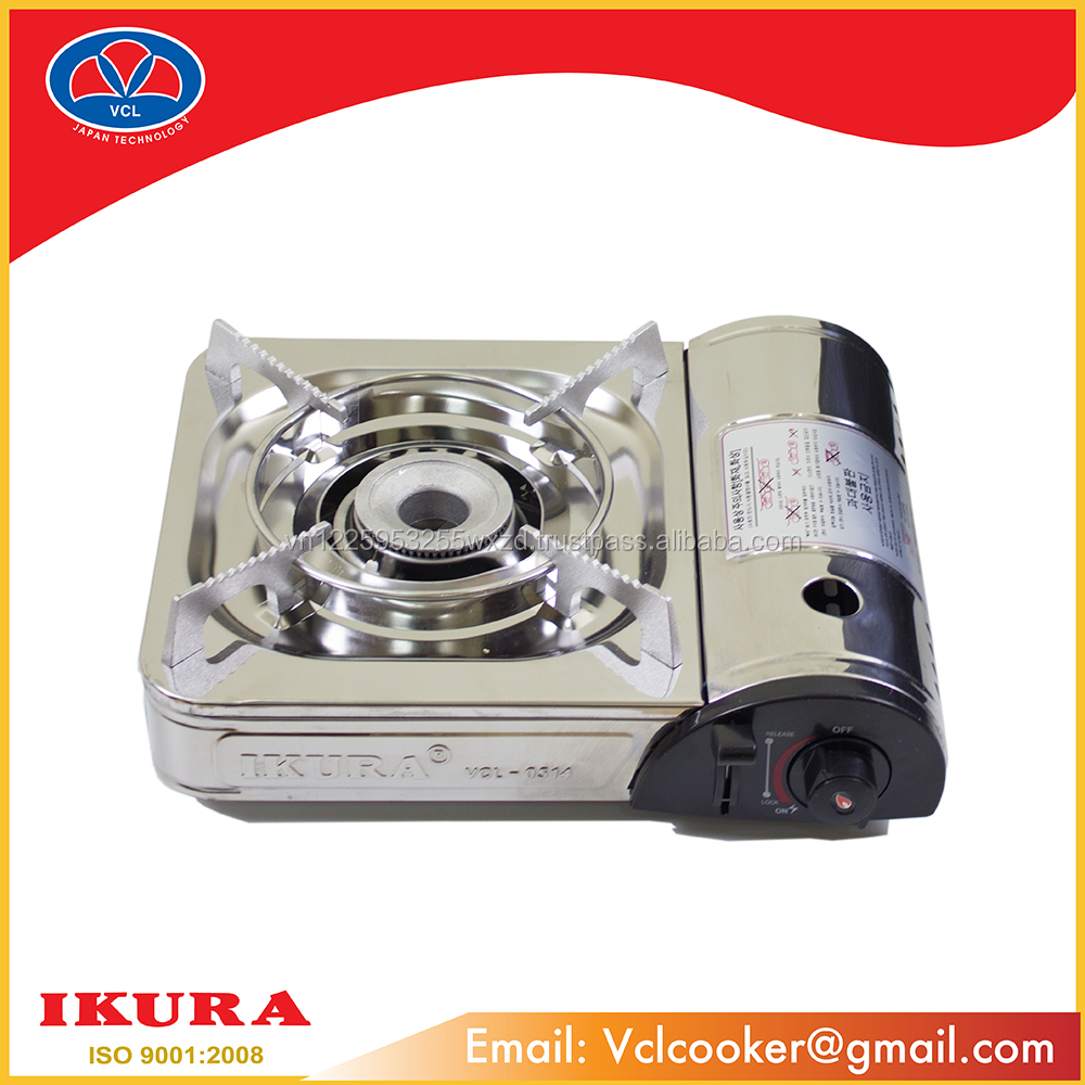 SINGLE GAS STOVE IKURA 0514 INOX ISO:9001-2008