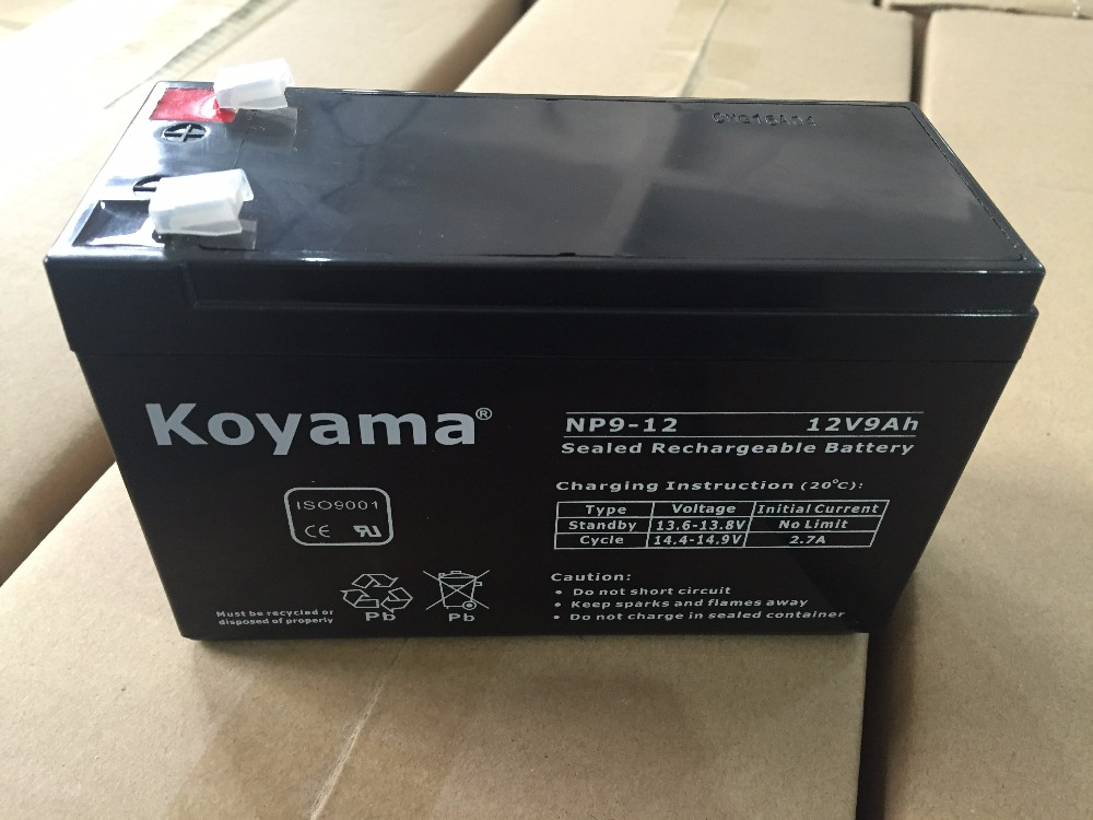 Reliable Quality Best High-Rate Discharge Performance Ups Battery 12V9Ah