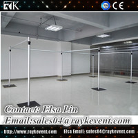Cheap wholesale pipe and drape pipe & drape curtain backdrop pole stand pipe and drape frame for sale