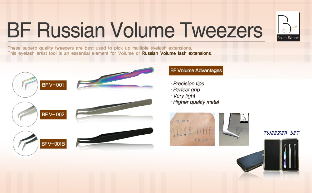 High quality tweezers for eyelash extension (S.Korea)