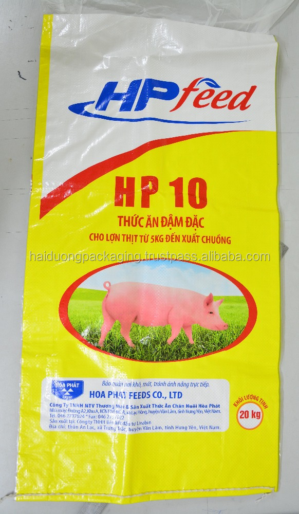 PP woven bag with BOPP film for rice