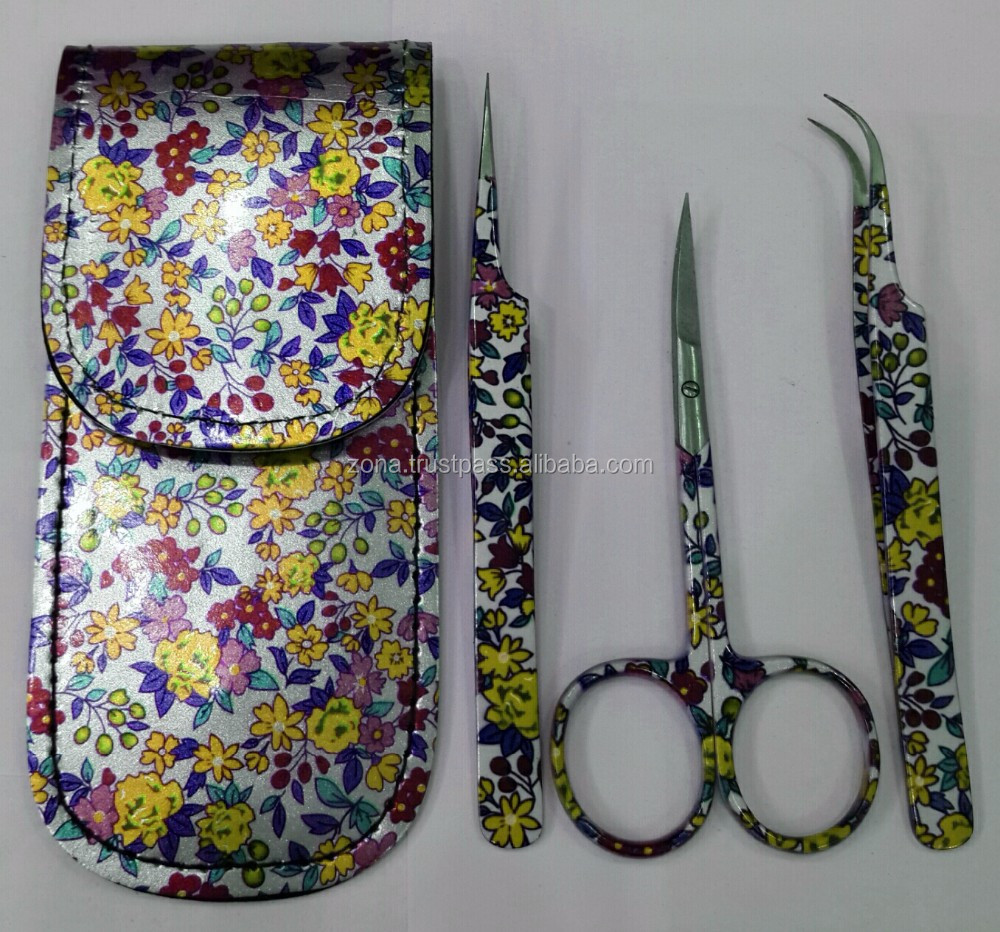 3- Pcs Easy Lash Fixing & Trimming Tweezers & Scissors Set From ZONA- PAKISTAN