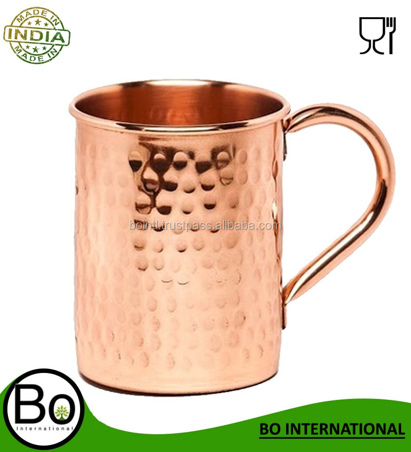 Copper Moscow Mule Hammered Mug 100% No Lining 16oz