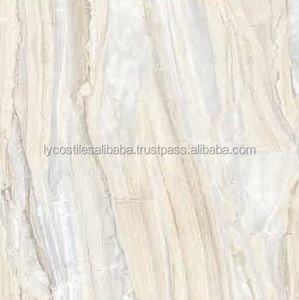 Newest Outdoor and Indoor Floor and Wall Polished Stone Look Big Size Porcelain Tile 600x600 mm