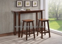 Breakfast dining kitchen table set, solid wood table and stool, counters table