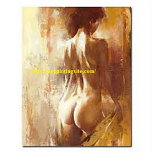 Women nude back oil painting