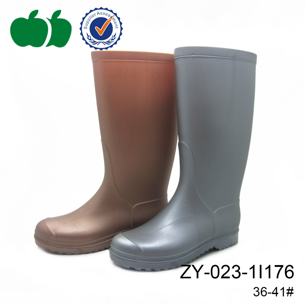 trendy women long rain boots