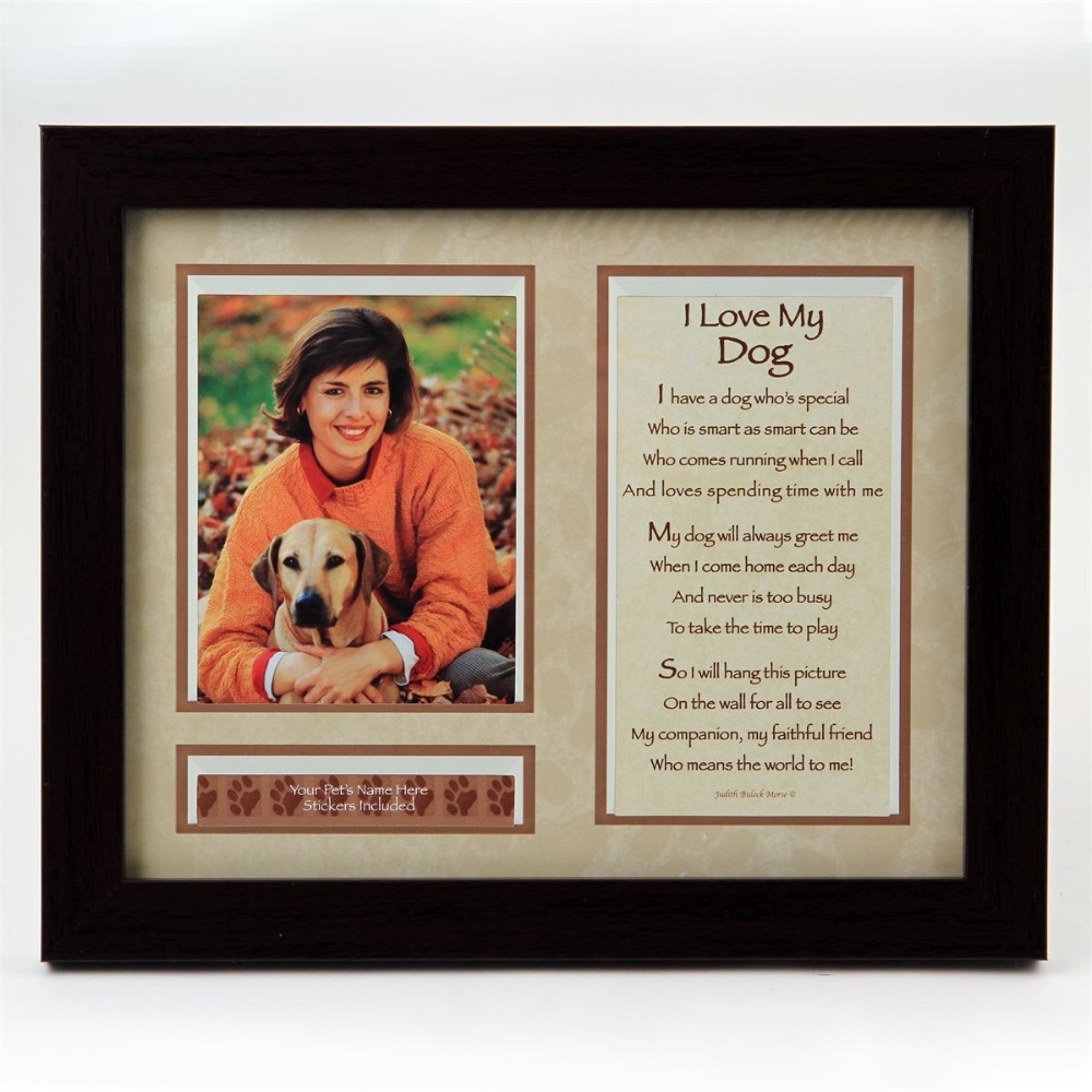 I Love My Dog Photo Frame (18 units/case)
