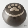 Engarved Paw Print Brass Odyssey Urns For Dogs