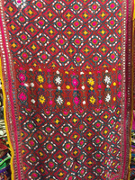 PHULKARI GEORGETTE DUPATTA SHAWL fabric , Hand embroidery 2.2 metre long