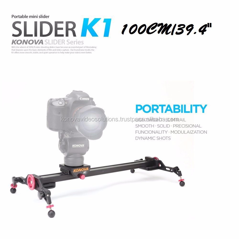 "KONOVA Professional Filmmaking Gear Camera Slider Track Dolly K1 100CM(39.4"")"