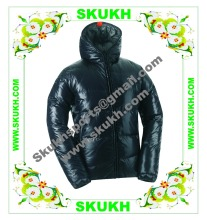 goose down jacket,grey goose down jacket,Black Women Winter Hooded Goose Down Jacket