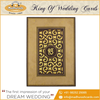 Attractive Laser Work and Foil-Printed Border Sikh Wedding Invitation Card 2016