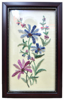 A stunning and elegant handmade frame with natural gemstones (emerald , ruby , blue sapphire,garnet)