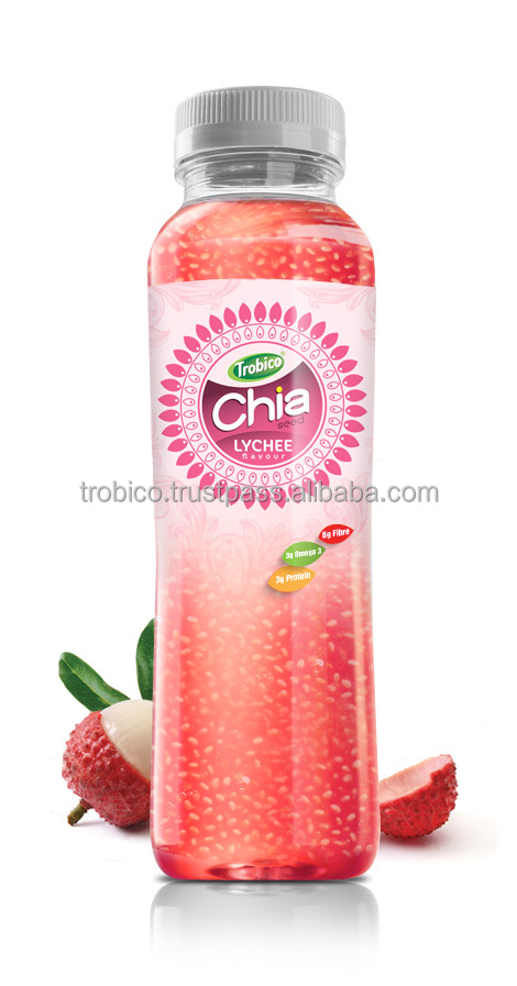 350ml pet bottle Lychee Flavor Chia Seed from VietNam