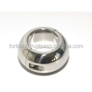 Oval Ball Stretcher Stainless Steel 40 mm High/ Bondage Medical SEX TOYS/Medical products