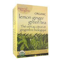 Imperial Organic Green Tea, Lemon Ginger 18 bags by Uncle Lees Teas