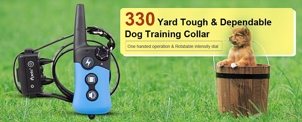 300m Remote Dog Training Collar Anti Bark Shocker, Peted Electric Waterproof Shock Dog Training Collar With Remoter Control