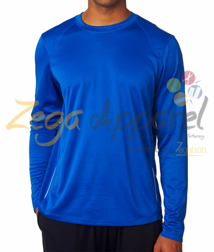 Zega Apparel 100 polyester quick dry men long sleeve t shirt
