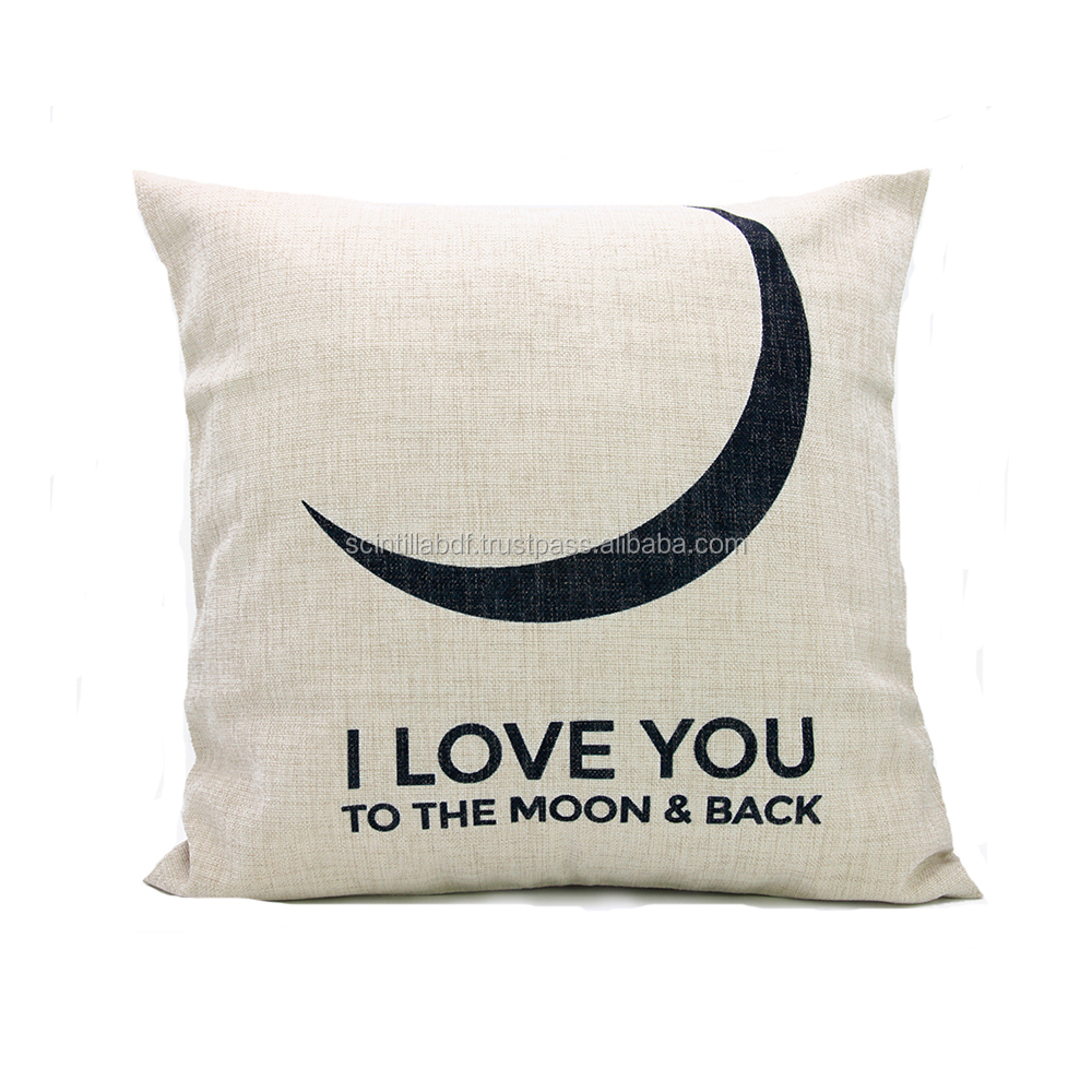 LG0018, Free Shipping, 1pc, I love you to the moon and back Pillow Cover