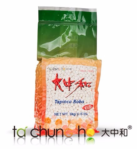 High Quality Taiwan 3kg 2.2 White Bubble Tea Tapioca Pearl