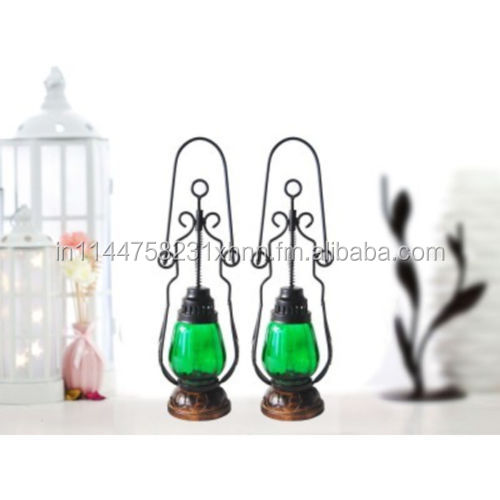 wooden and iron fancy wall hanging electric chimney lamp
