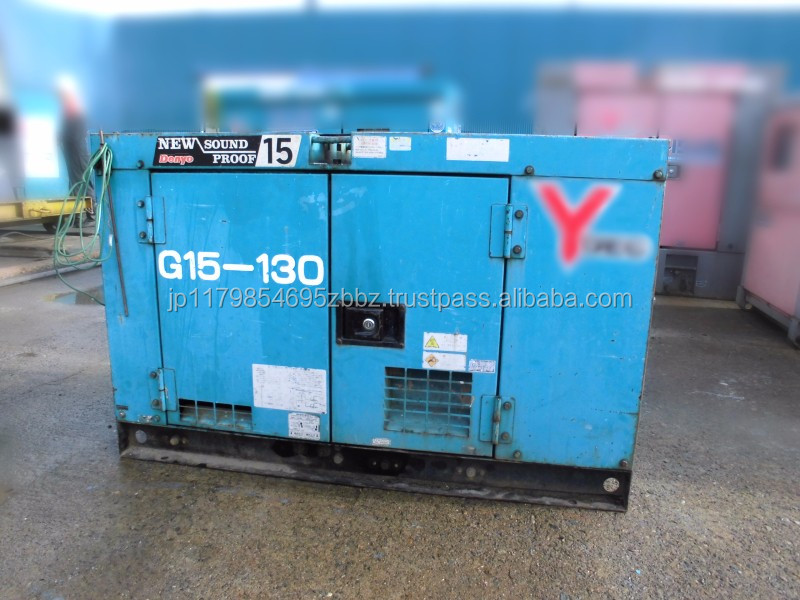 Japaneses used construction machinery denyo diesel generator DCA-15