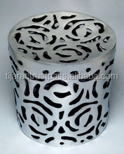Round Metal Side Stool / Handmade Aluminium Stool / Ottomans