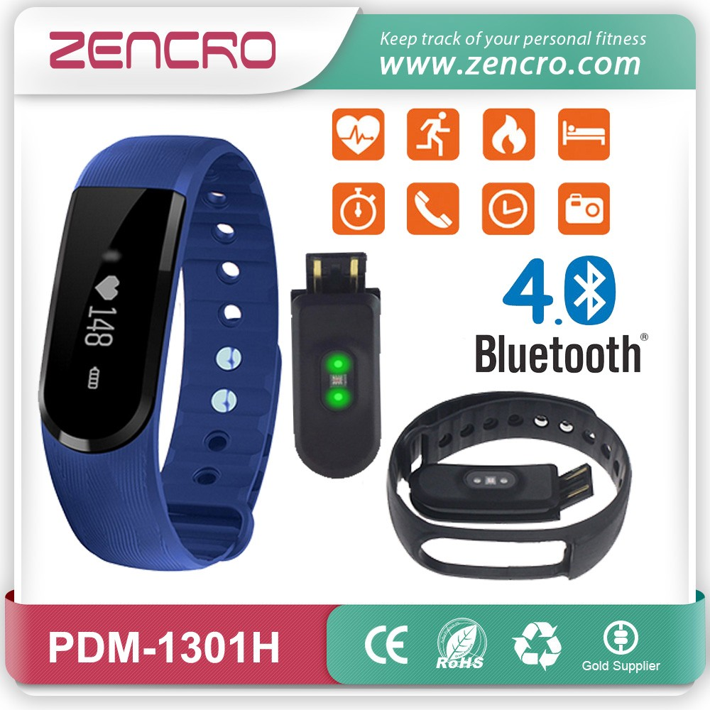 Zencro Newest Bluetooth Low Energy Fitbit Smart Wristband Heart Rate Monitor Activity Tracker Work With Veryfit App