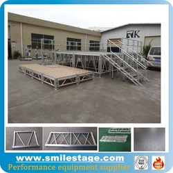Buy Aluminum Outdoor Adjustable Mobile Handrails Stages