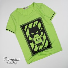 Latest fancy design short sleeve 8-12y superhero kid boys t shirt bulk wholesale kids clothing