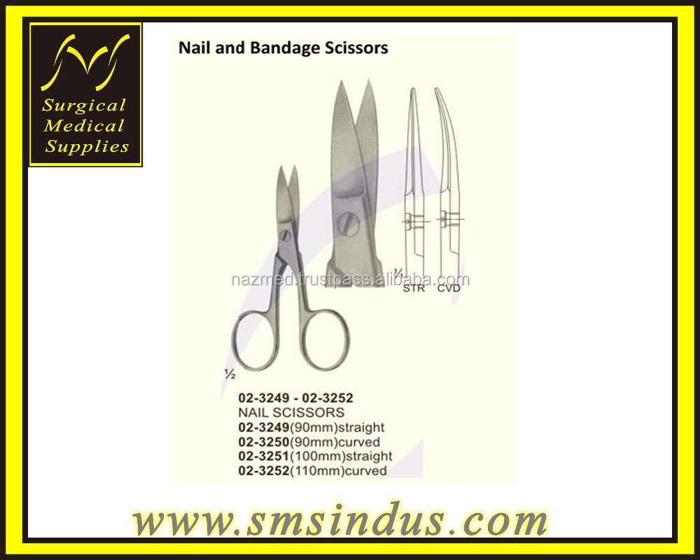 Merit Cuticle Nail Scissor Straight & Curved