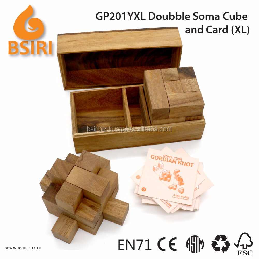 Doubble Soma Puzzle and Card Wooden Educational Games