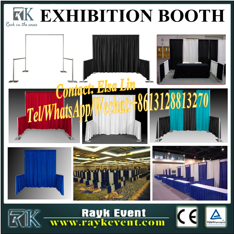 Newest design aluminum extrusion trade show booth/truss trade show booth/pipe and drape for exhibitio booth