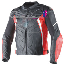 CFLMSM-1202 avro d1 jacket black red white rollover fashion leather