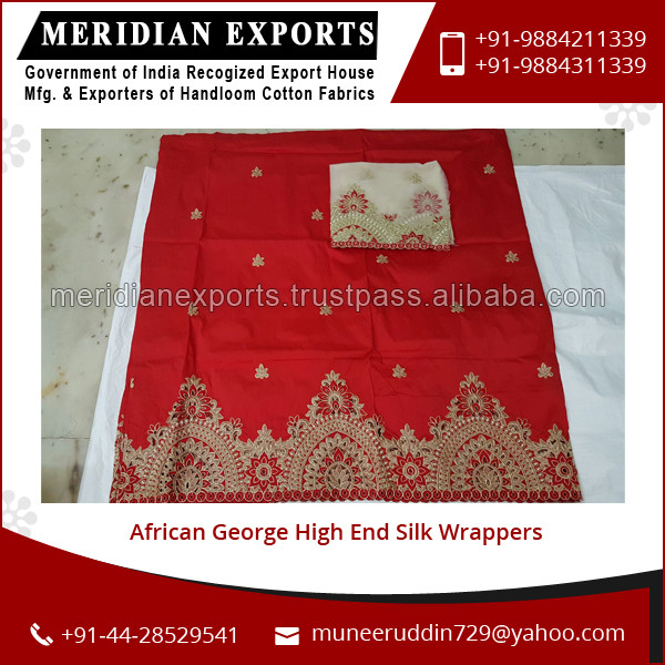 Latest Designed High Quality African George High End Silk Wrappers for Bulk Buyer