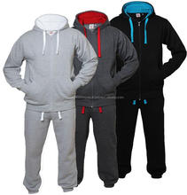 Mens Authentic New Designs Fleece Sweat Suit Track Suit with Lined Hood
