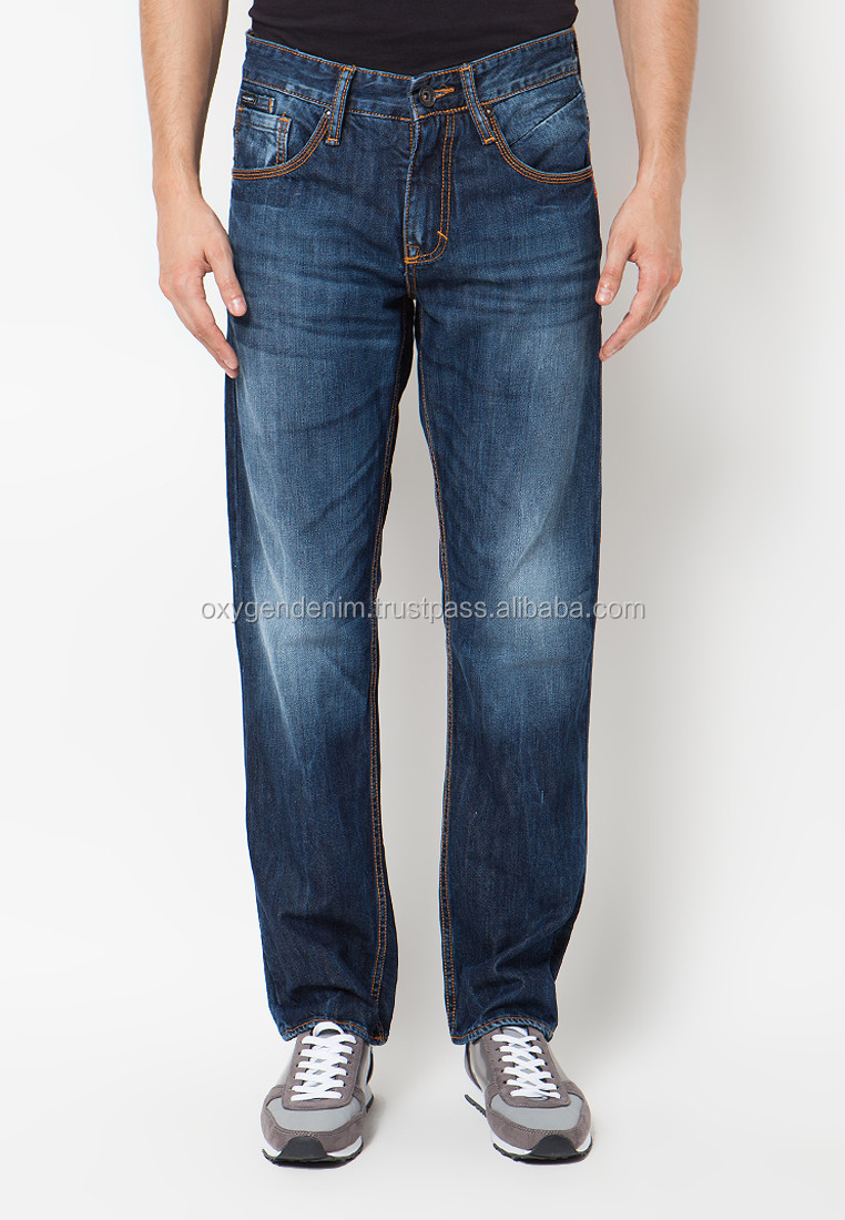 Man Denim Jeans Washed and Wringkled Fashion Updated
