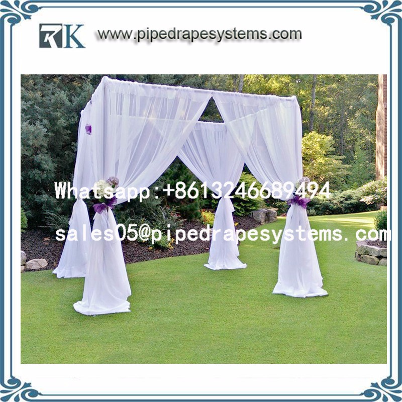 Aluminum trade show photo booth displays Portable pipe and cable wedding tent wall back drop